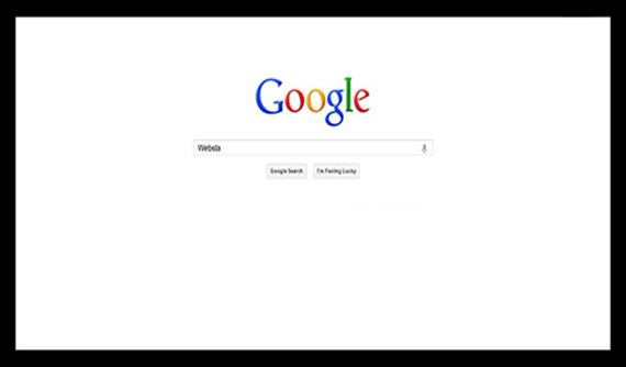 Google seo search screen